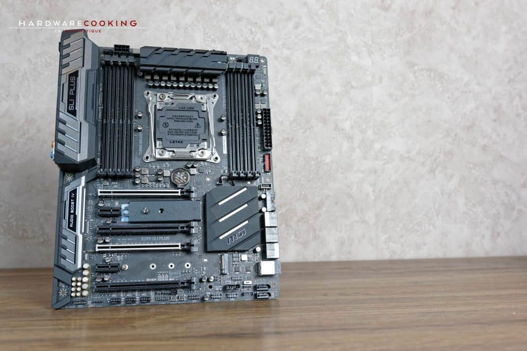 test carte mère MSI X299 SLI PLUS