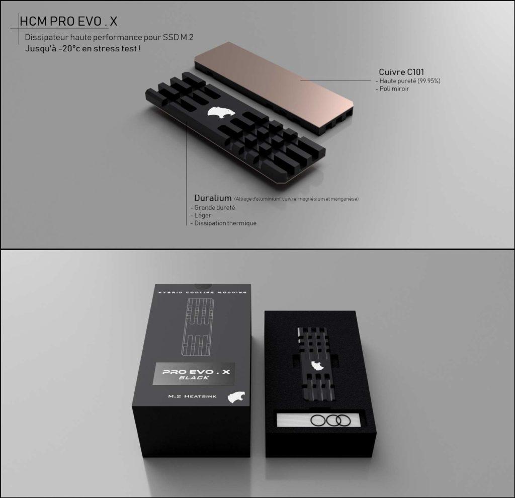 Dissipateur thermique SSD M.2 HCM PRO EVO.X