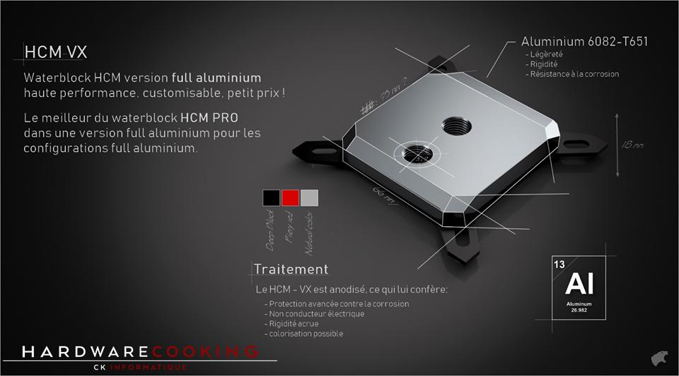 Waterblock CPU Hybrid Cooling Modding HCM VX