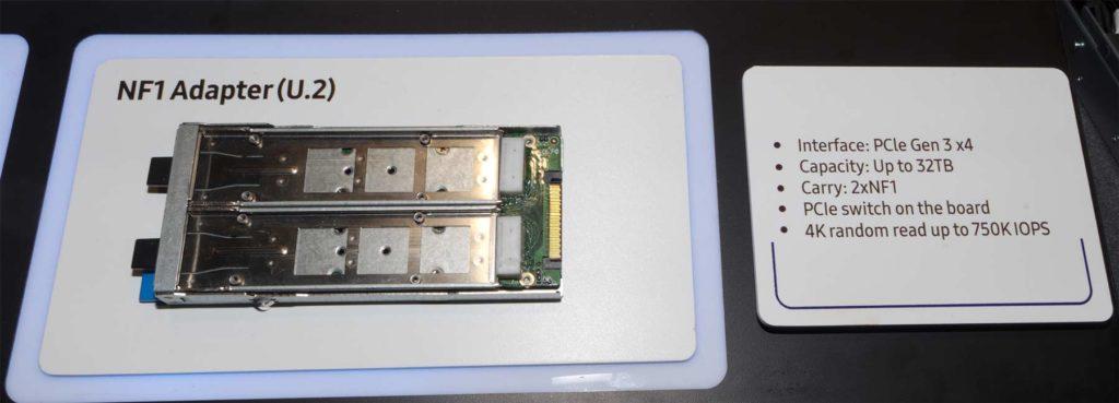 Samsung SSD PM983 NF1 adaptateur