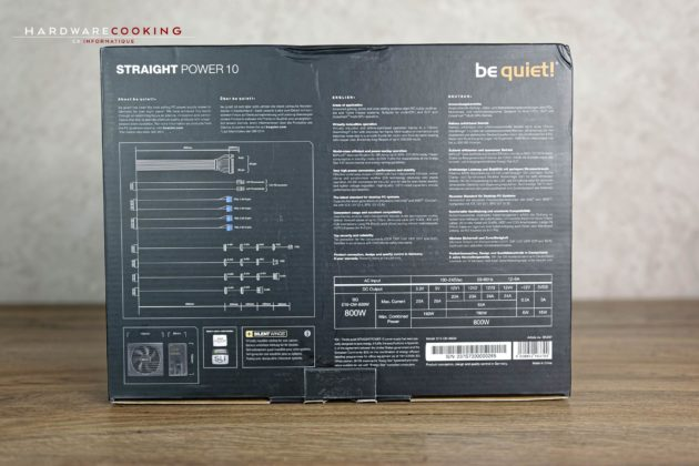 Test alimentation Be Quiet! Straight Power 10 800W