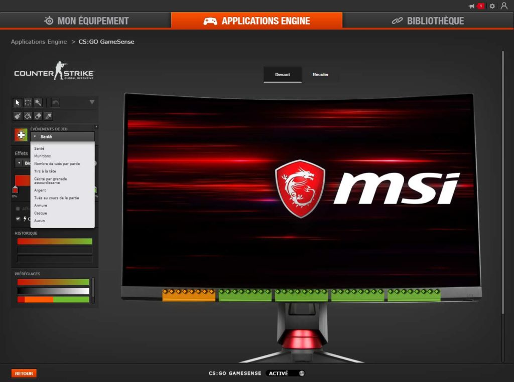 Test écran MSI OPTIX MPG27CQ