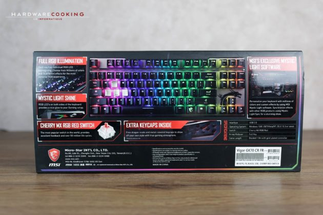 Test clavier MSI Vigor GK70