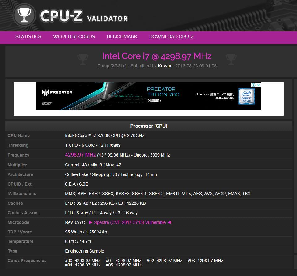 Mémoire DDR4 ADATA XPG SPECTRIX D41 à 5000Mhz