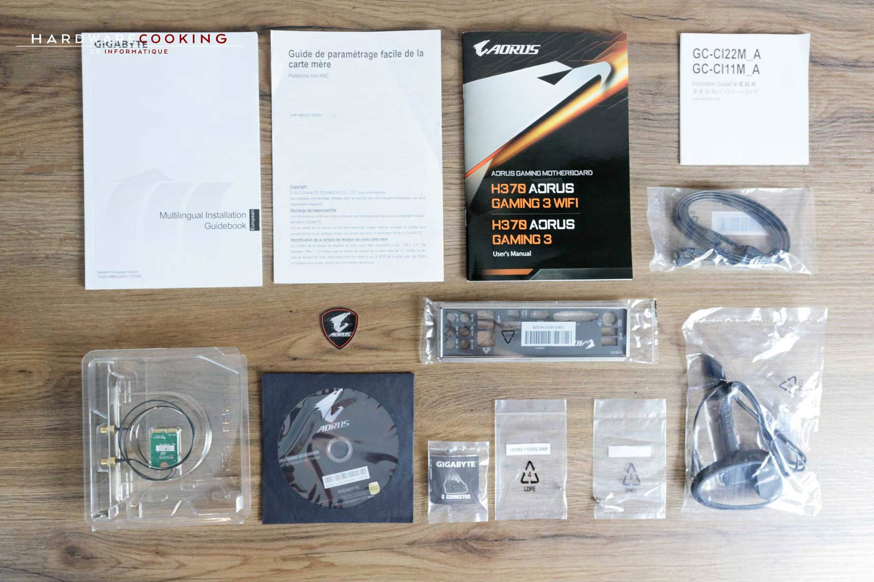 Test carte mère AORUS H370 AORUS GAMING 3 WIFI bundle