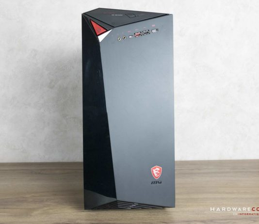Test PC MSI Infinite A VR7RD-04STW face avant