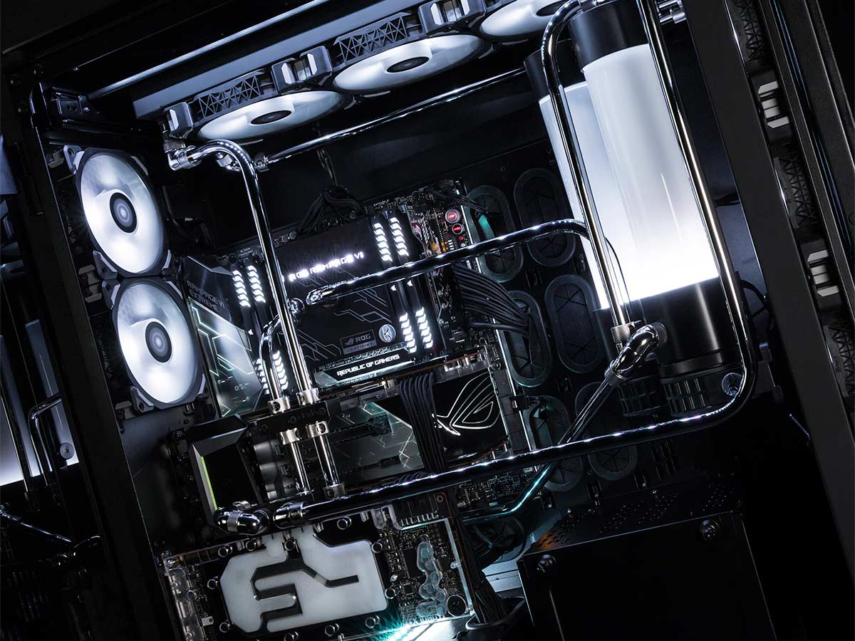 Build 16000 euros boîtier Corsair Obsidian 1000D
