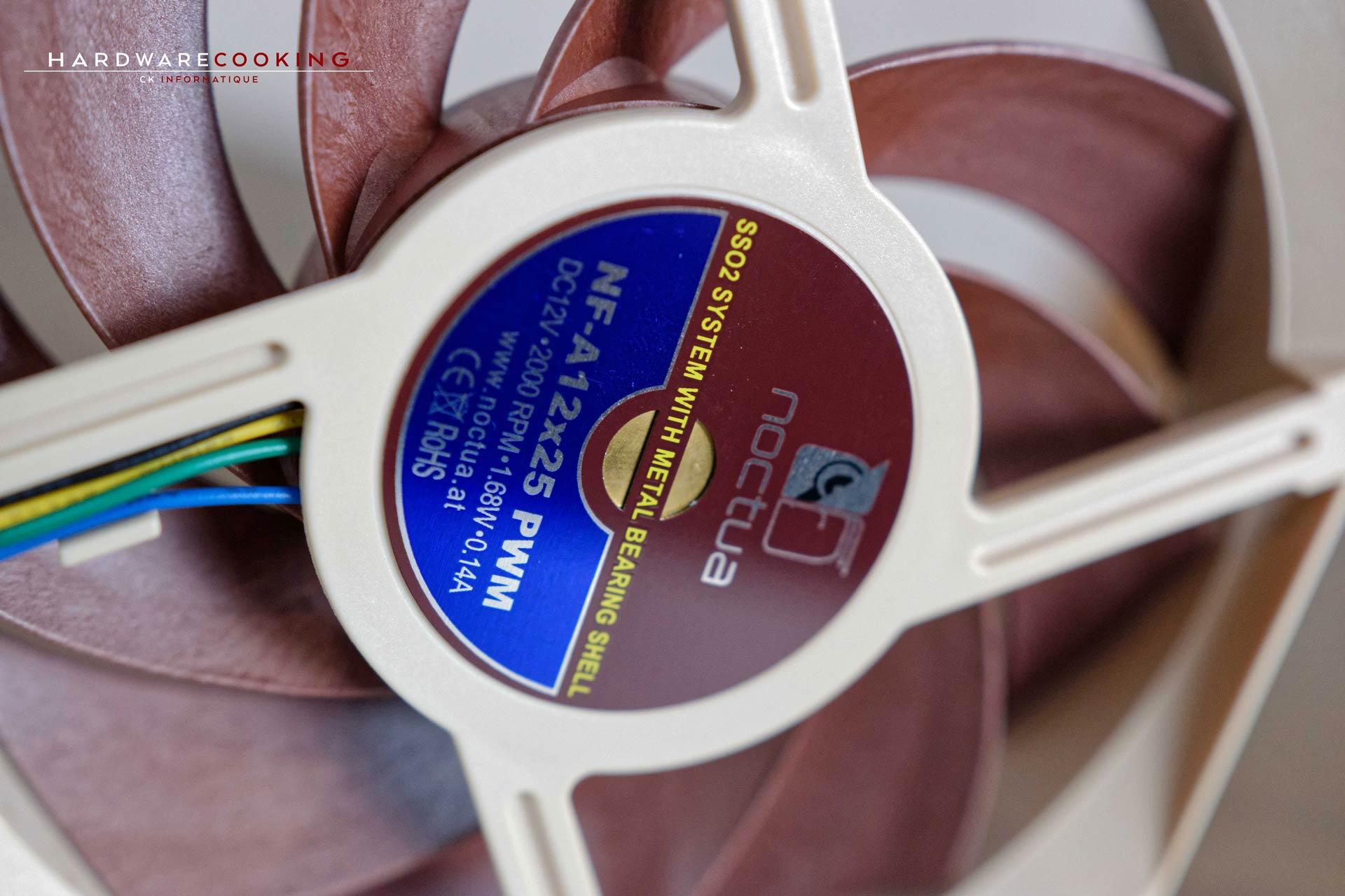Test ventilateur Noctua NF-A12x25
