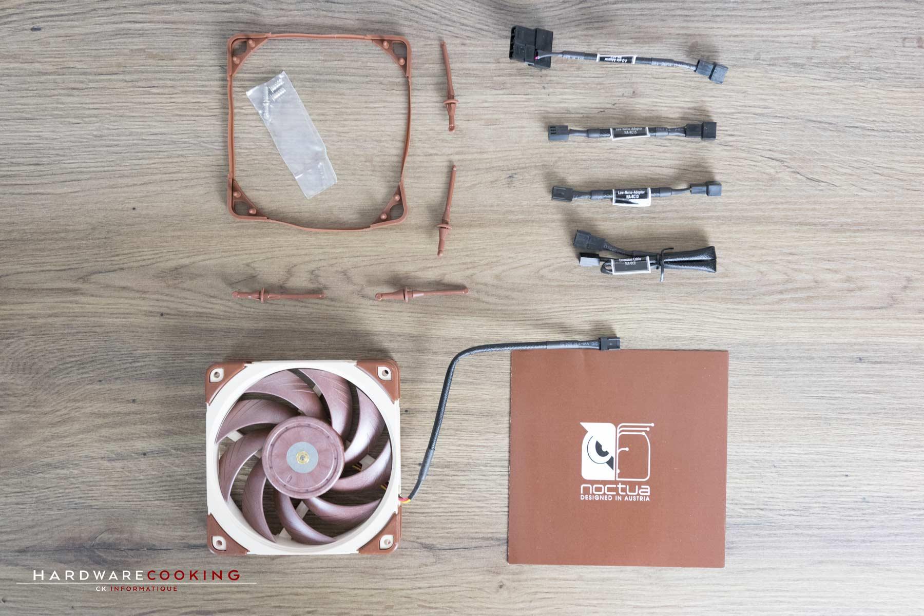 Test ventilateur Noctua NF-A12x25 Bundle FLX
