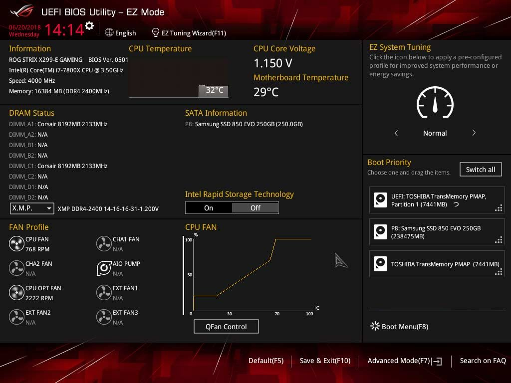 Test ASUS ROG STRIX X299-E GAMING BIOS