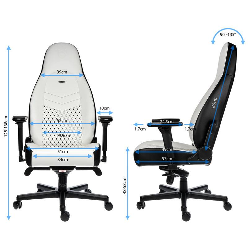 Fauteuil noblechairs ICON blanc