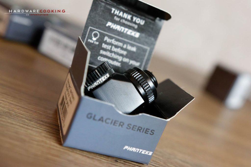 Raccords Phanteks Glacier 16mm Hard Tube Rotary Fitting 90° G1/4 - Black