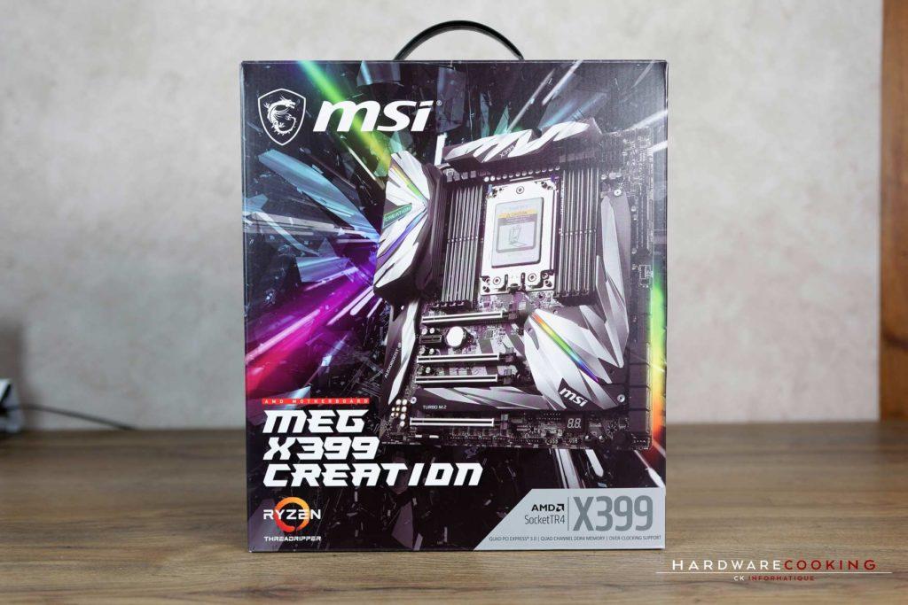 Test carte mère MSI MEG X399 CREATION