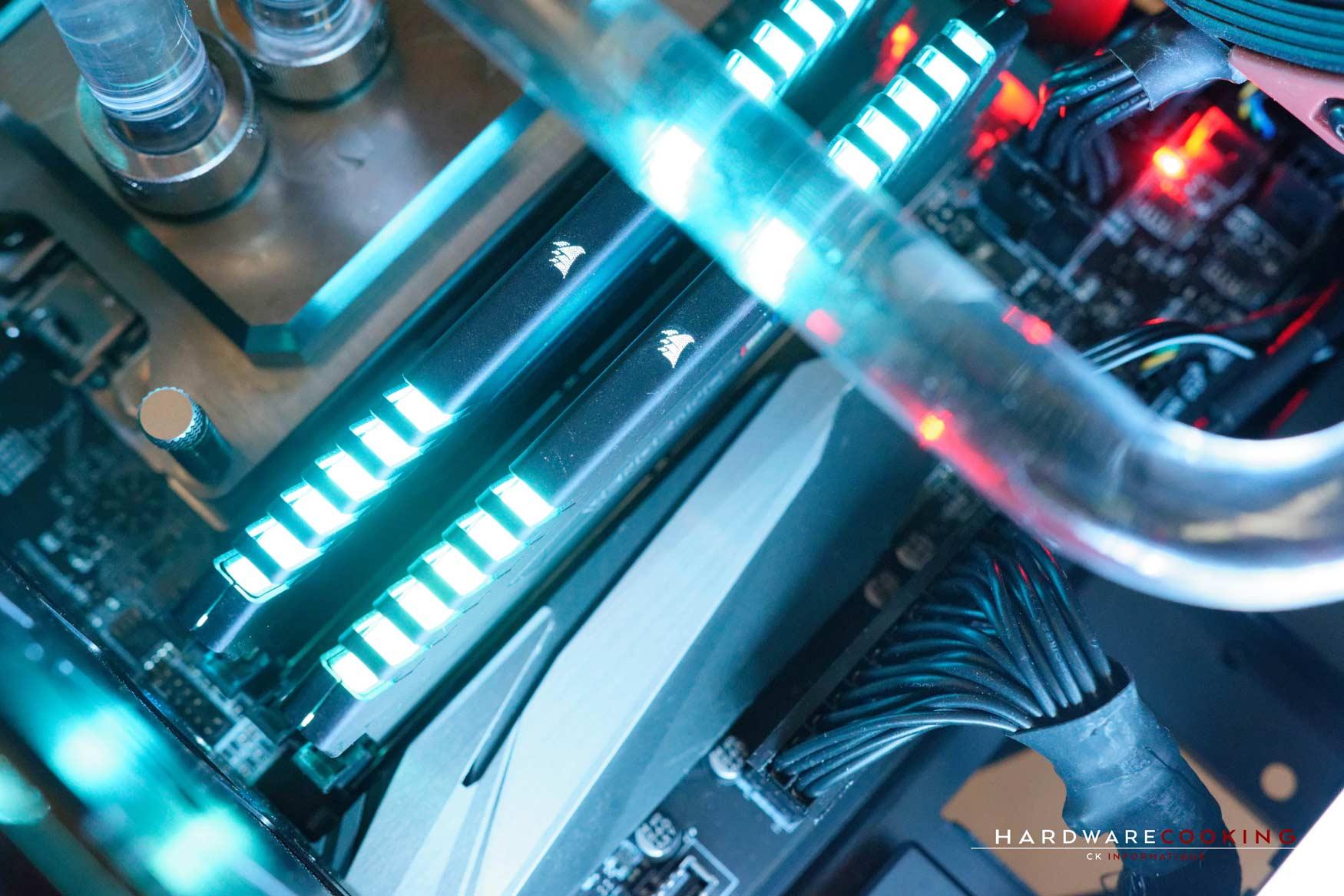 Rig du jour : Crustal Link par HardwareCooking : mémoire DDR4 Corsair Vengeance RGB
