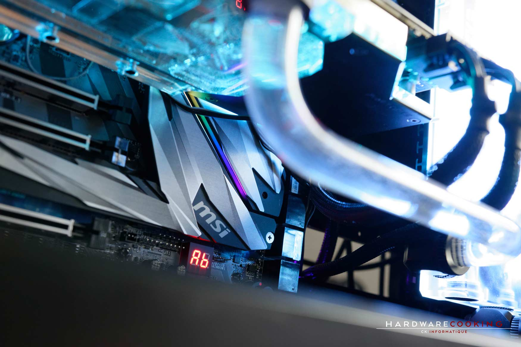 Rig du jour : Crustal Link par HardwareCooking : carte mère MSI MEG X399 CREATION