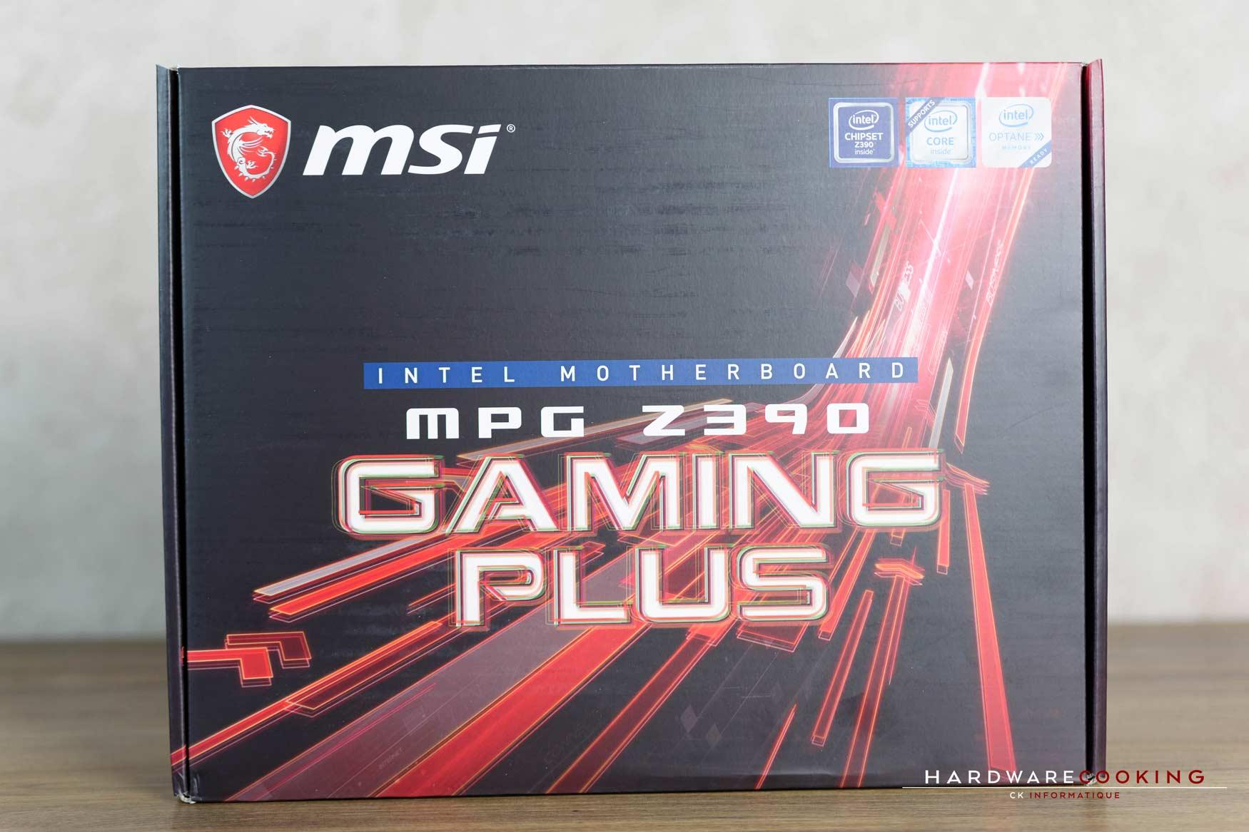 Test : MSI MPG Z390 GAMING PLUS - HardwareCooking