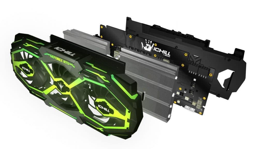 Inno 3D RTX iChill x3 en vue éclatée