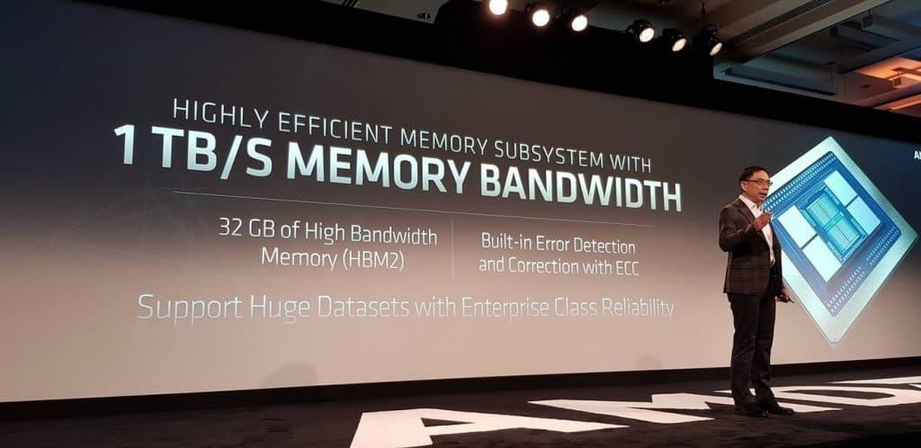 AMD conférence sur la nouvelle MI60 détail 2