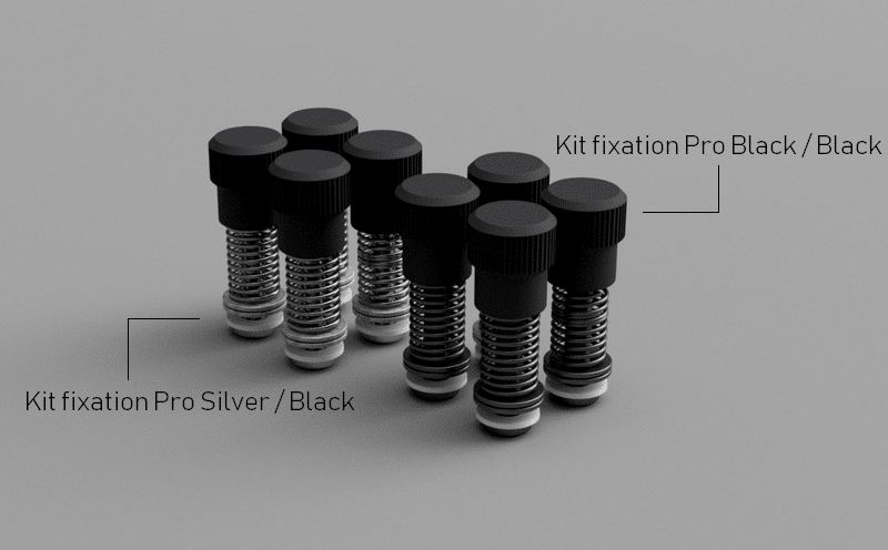Hybrid Cooling vue du kit de fixation noir