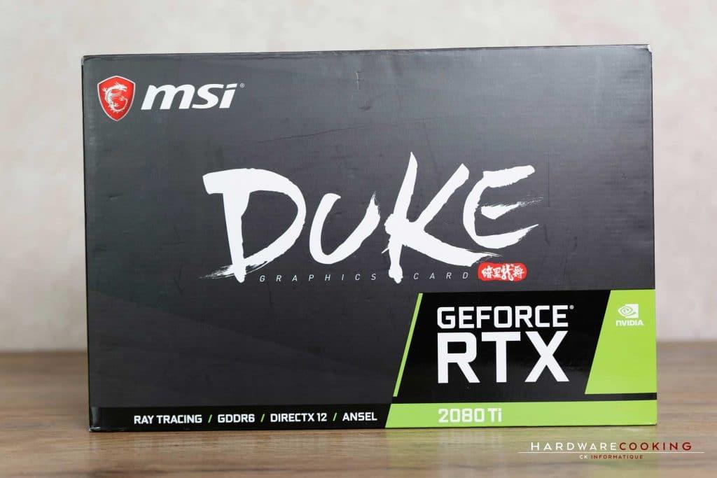 Test carte graphique MSI RTX 2080 Ti DUKE 11G OC