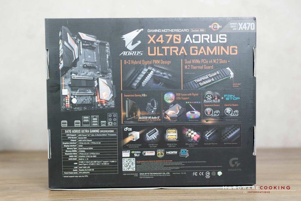 Test carte mère X470 AORUS ULTRA GAMING