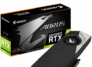Carte graphique AORUS RTX 2080 Ti Turbo 11G vue du packaging