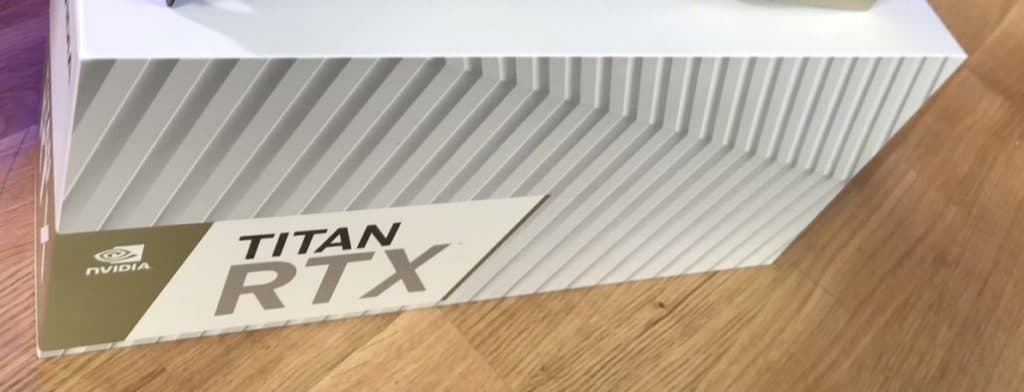Packaging de la Nvidia RTX Titan