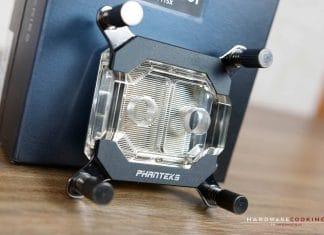 Test waterblock CPU Phanteks Glacier C350i