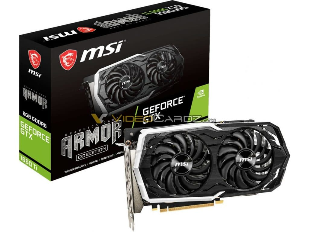MSI GeForce GTX 1660 Ti Armor