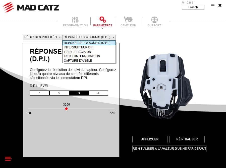 Mad Catz RAT 4+ logiciel