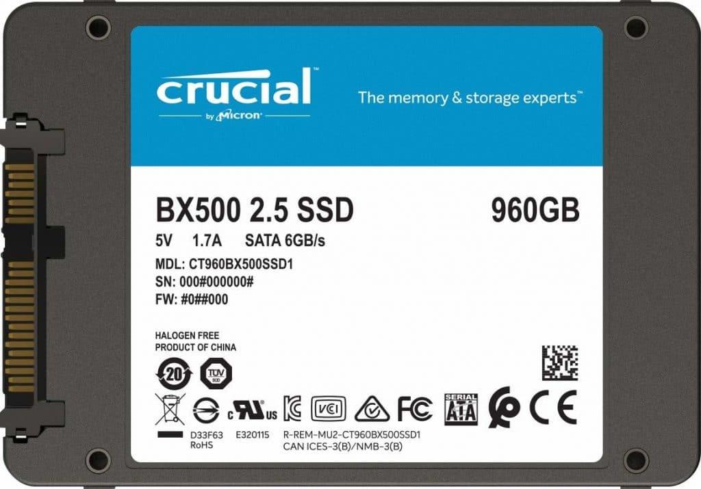 SSD Crucial BX500 960 Go