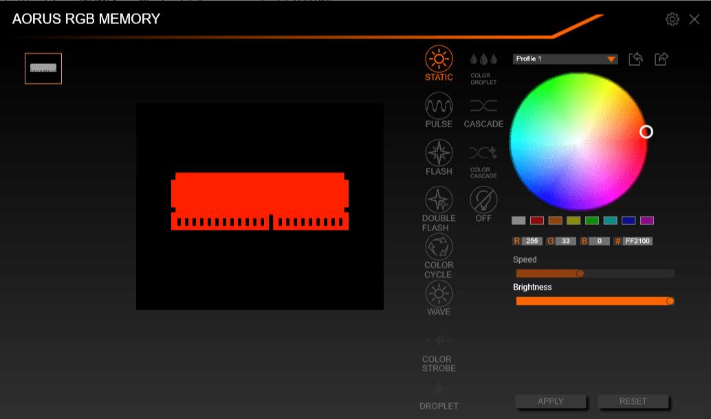 Test : AORUS RGB Memory 3200 MHz 2x8 Go DDR4 - HardwareCooking
