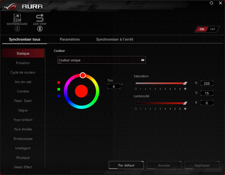 Test carte mère ASUS ROG STRIX Z390-E GAMING AURA SYNC