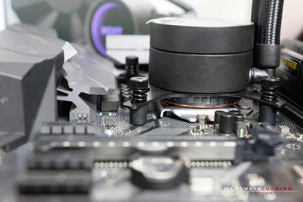 Test AiO NZXT Kraken M22 montage installation
