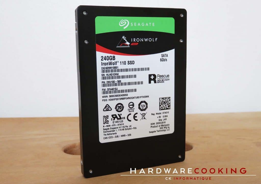 Test SSD Seagate IronWolf 110