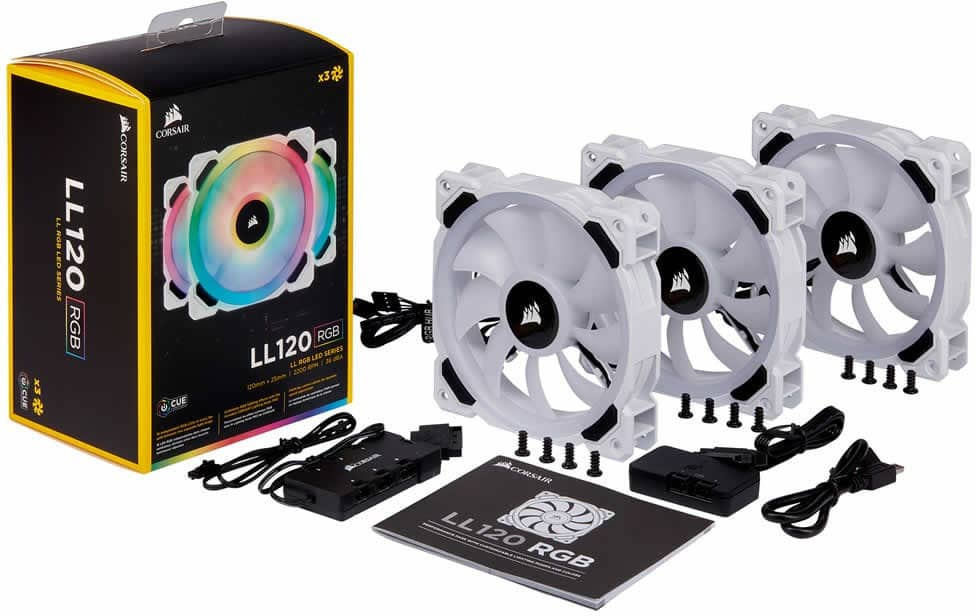 Ventilateur Corsair LL120 RGB White