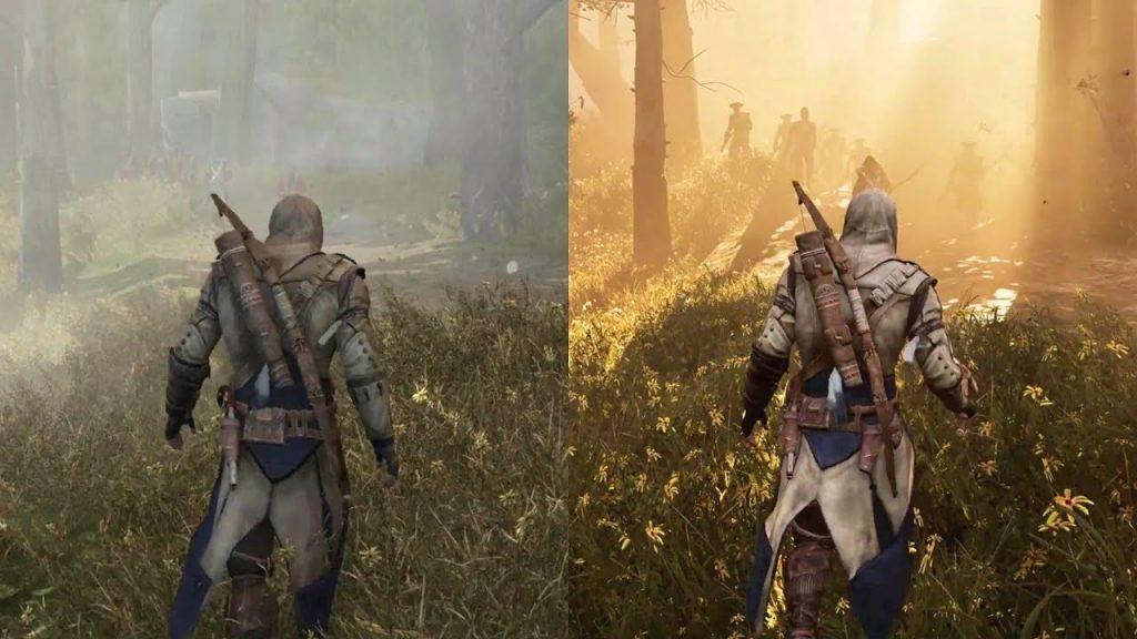 jeu vidéo Assassin's Creed III Remastered comparaison
