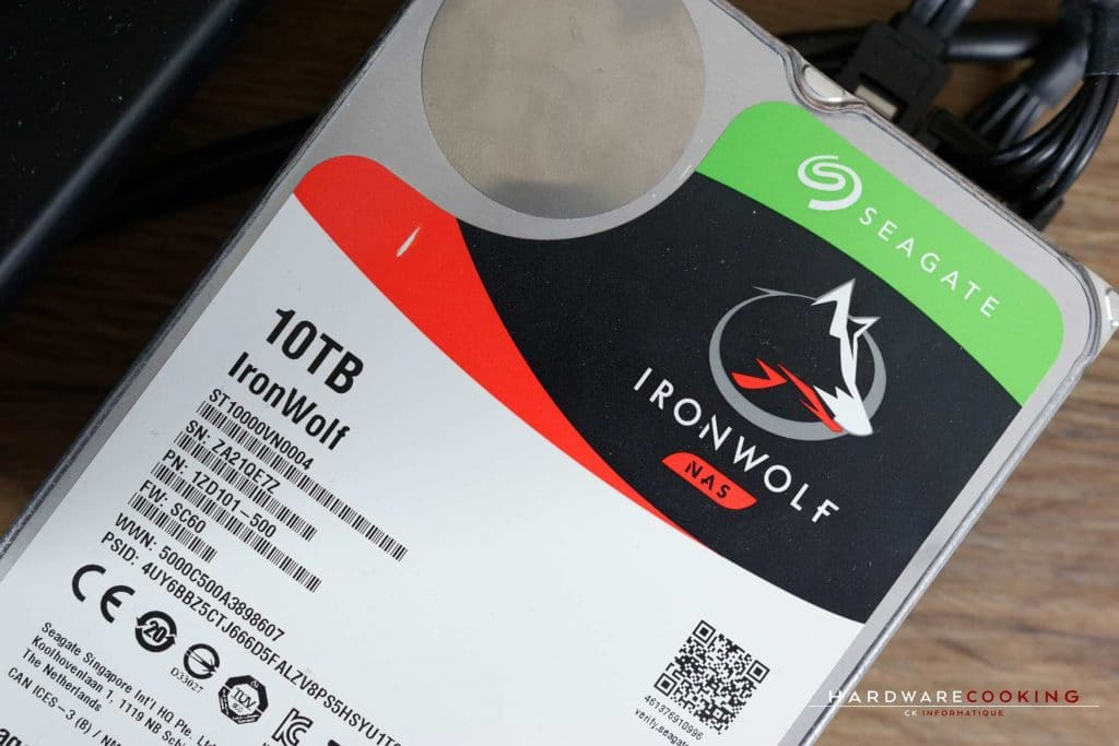 Test AMD StoreMI disque dur Seagate IronWolf 10 To
