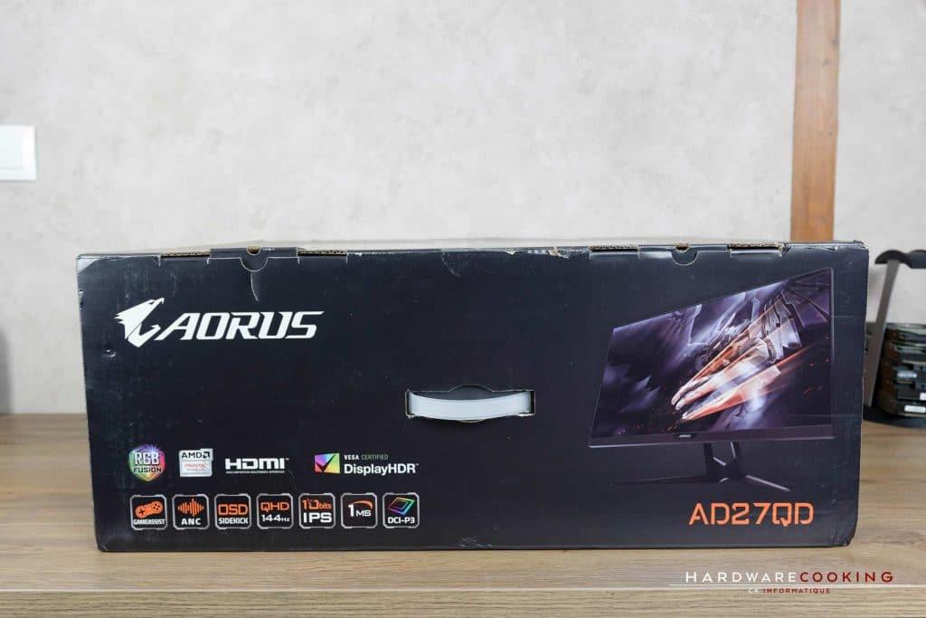 Test écran gamer AORUS AD27QD