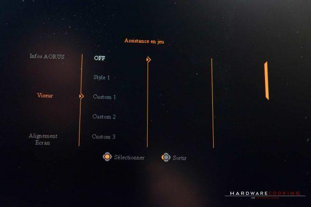 Test écran gamer AORUS AD27QD OSD