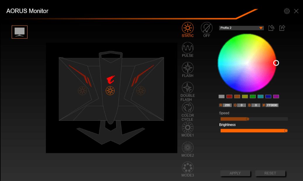 Test écran gamer AORUS AD27QD RGB FUSION 2.0
