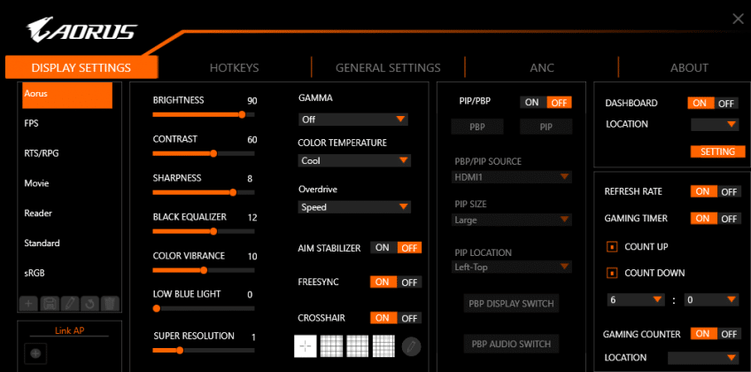 Test écran gamer AORUS AD27QD Sidekick