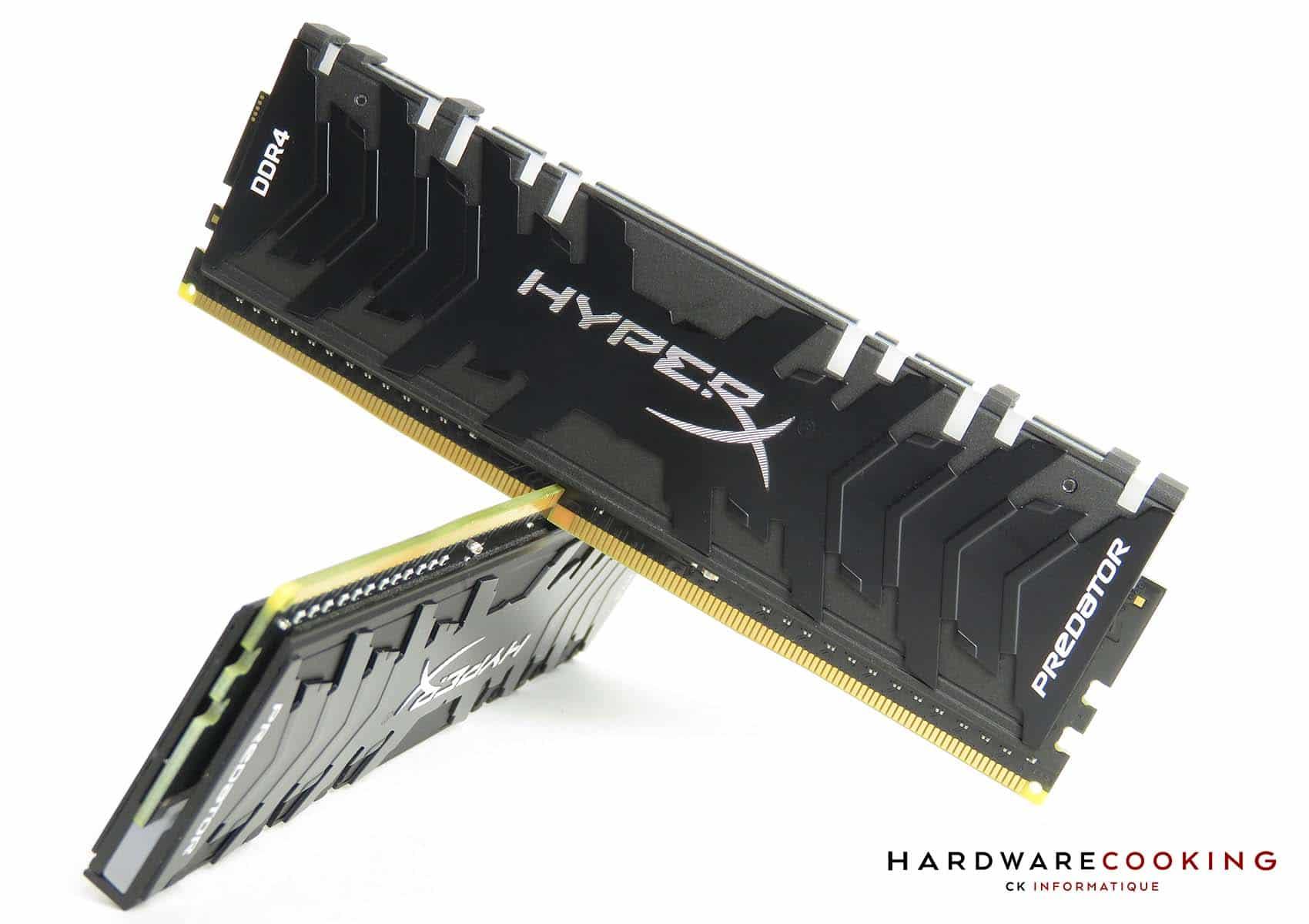 Test mémoire DDR4 HyperX Predator RGB