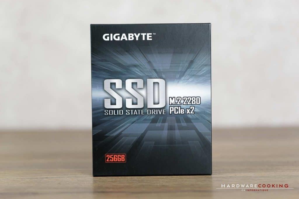Test SSD GIGABYTE M.2 PCIe boîte