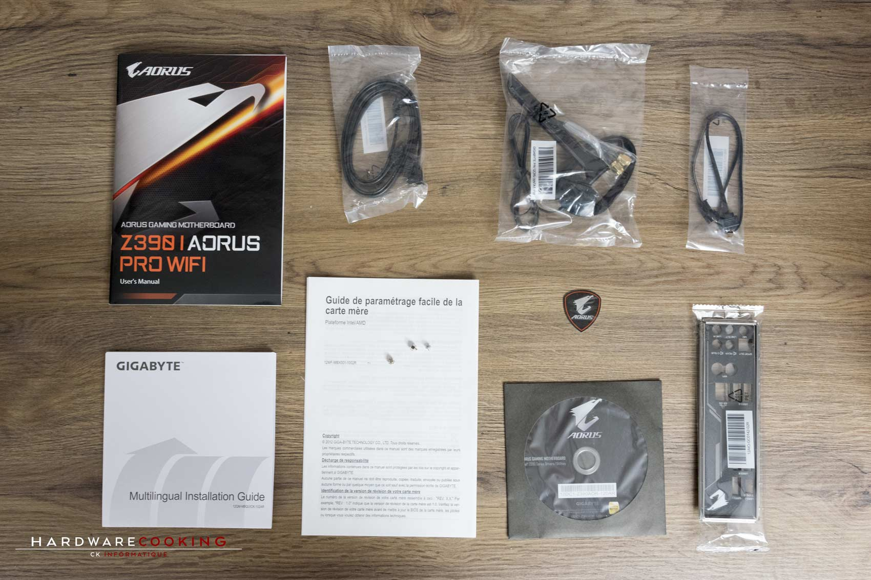 Bundle carte mère Z390 I AORUS Pro Wifi