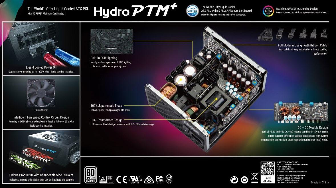 Alimentation FSP Hydro PTM+ 850 W