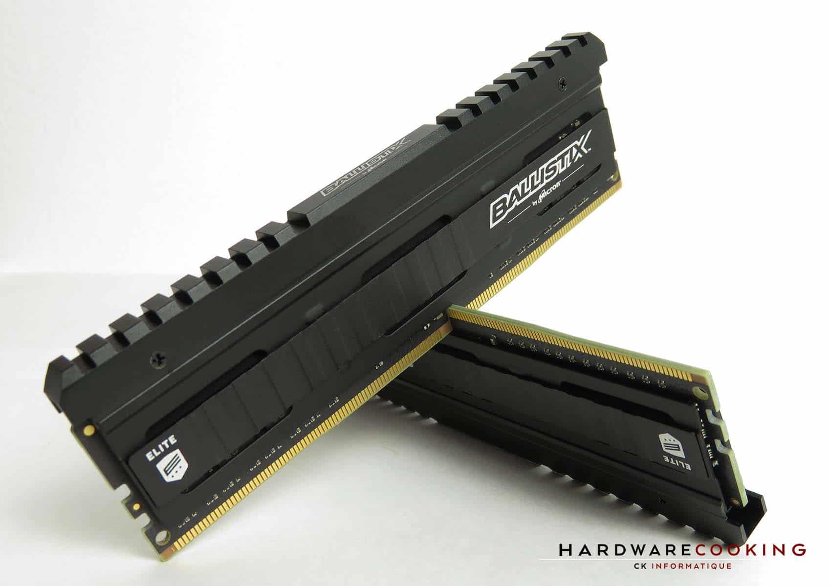 Test : Ballistix Elite 16 Go (2 x 8 Go) DDR4 3600 MHz CAS 16