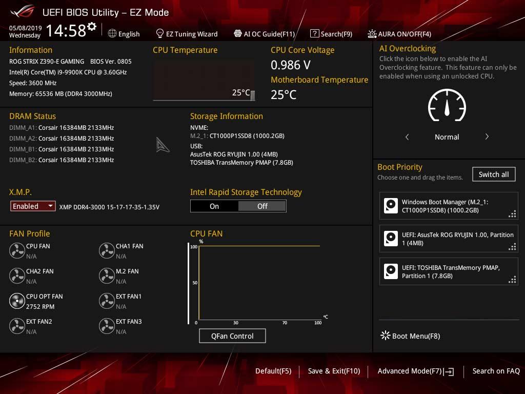 Activer profil XMP dans le BIOS