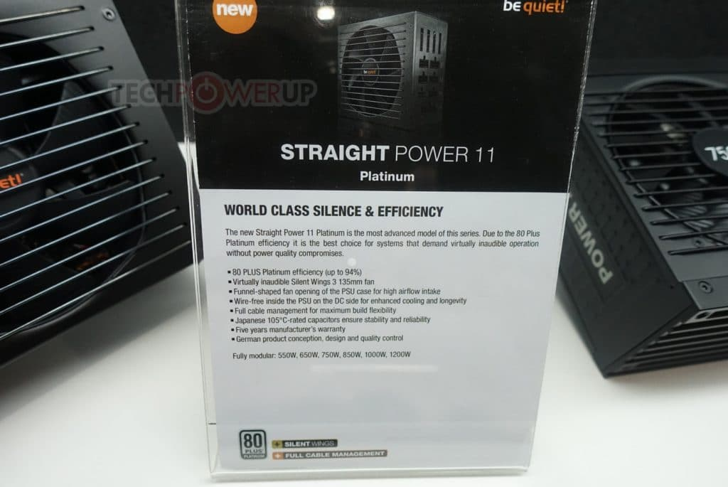 Alimentation Be Quiet! Straight Power 11 Platinum