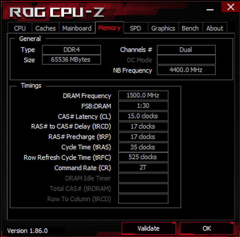 CPU-Z 3000 MHz XMP